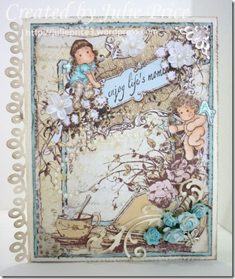 Shabby chic card front