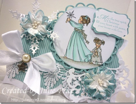 belles and whistles christmas card angle