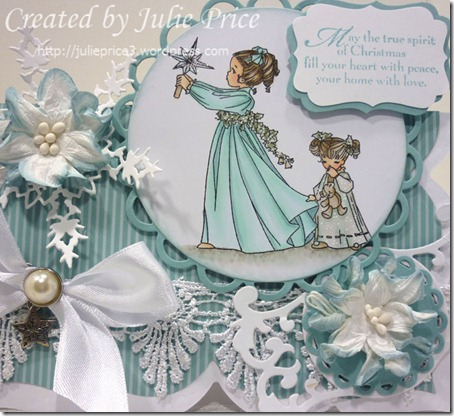 belles and whistles christmas card closeup 2