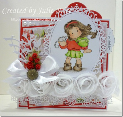 stamptacular roses and ribbons