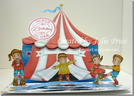 circus tent easel