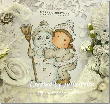 Snowy Hug closeup