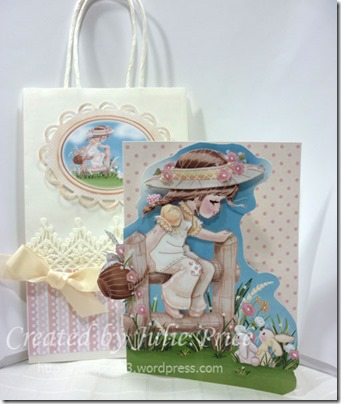 2 Bunnies bag and card
