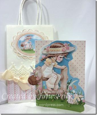 2 Bunnies bag and card