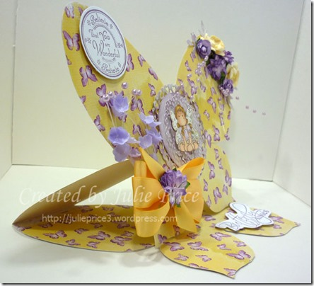 Butterfly easel side view