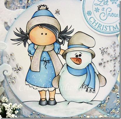 frosty the snowman closeup