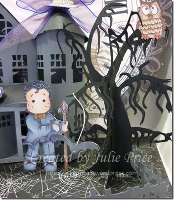 haunted house closeup tree
