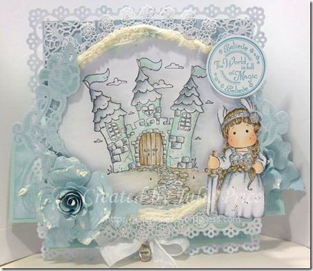 viking tilda easel card closed