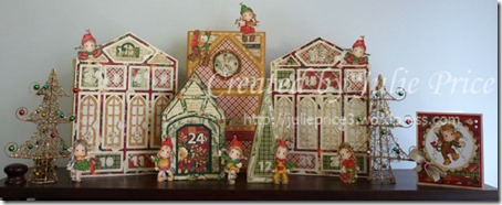 advent village with card2