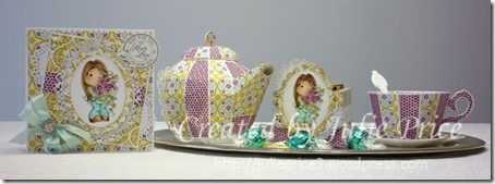 Magnolialicious Doilies Tea set and card
