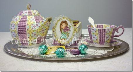 Magnolialicious Doilies Tea set