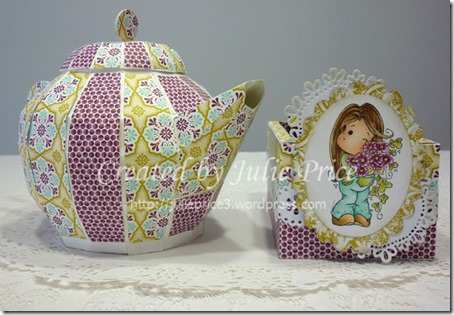 tea caddy and pot front view