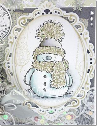 snowy closeup
