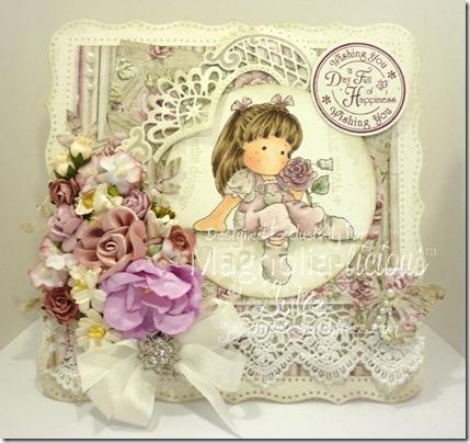 rose scent tilda card