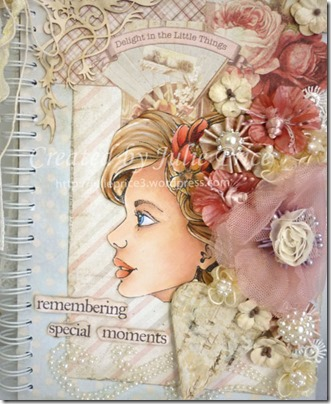 bloom girl journal closeup 2