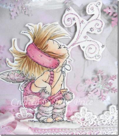 pink fairy closeup
