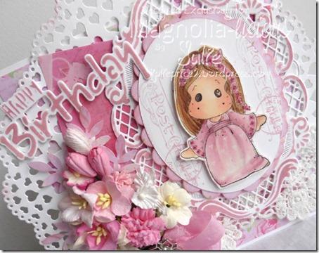 pink card angle