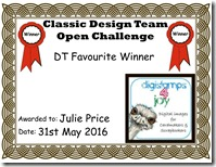Julie Price DT Favourite Classic Certificate