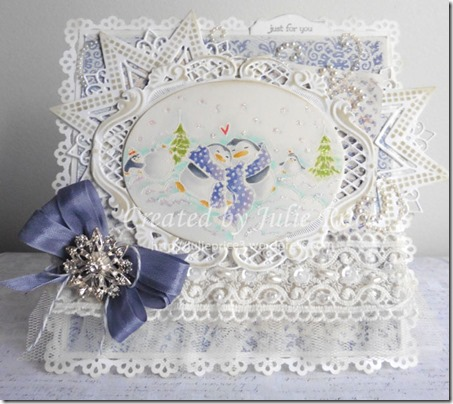 white embossing card