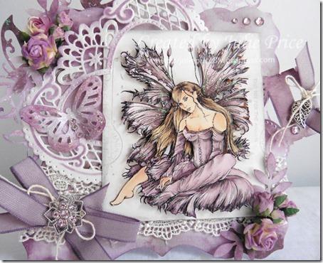 purple fairy closeup