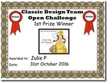 Julie P ~ 1st Prize Classic Certificate