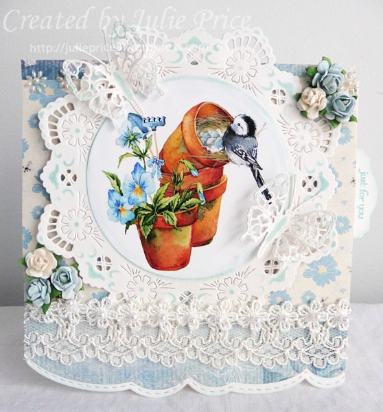 NON DIE CUT TOPPERS FOR CARDS OR CRAFTS MARIANNE PASTEL BIRDS